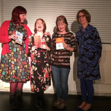 Susie Wild, Rebecca Parfitt, Maria Donovan and Amy Wack at First Thursday, Chapter, Cardiff 5 10 17
