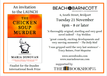 Bridport Book Launch Invite