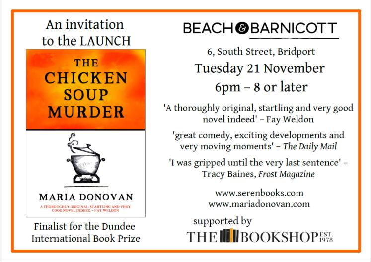 Bridport Book Launch Invite