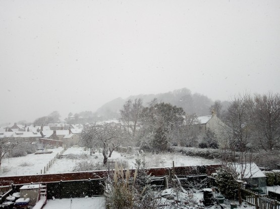 Snowing again March 18 2018