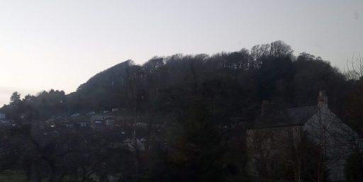 dark hill in November