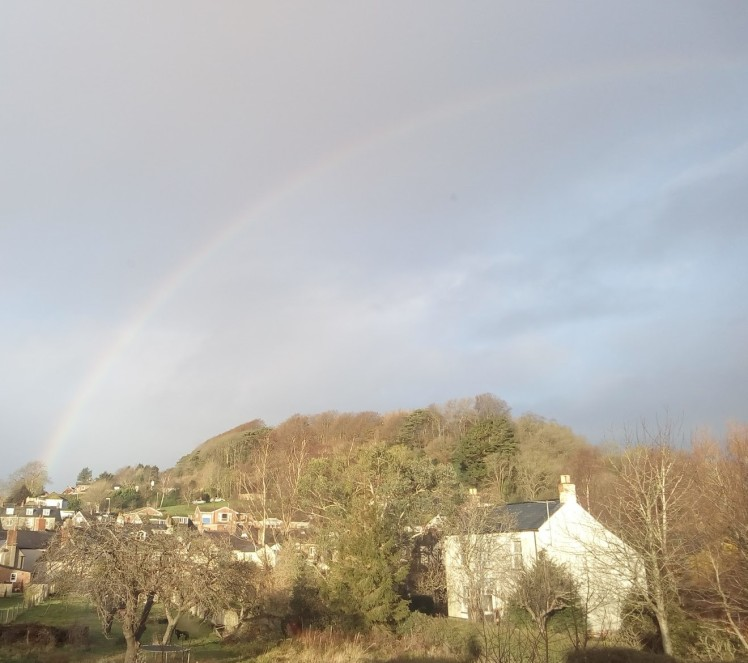 Allington Hill: January Rainbow
