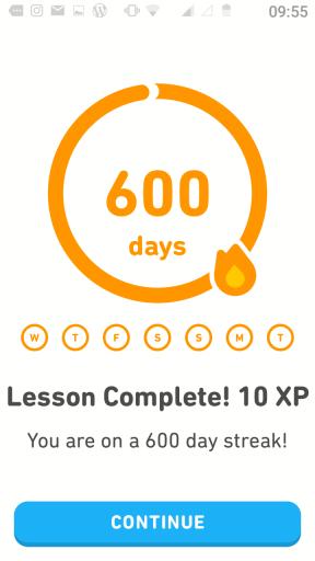 600-day streak