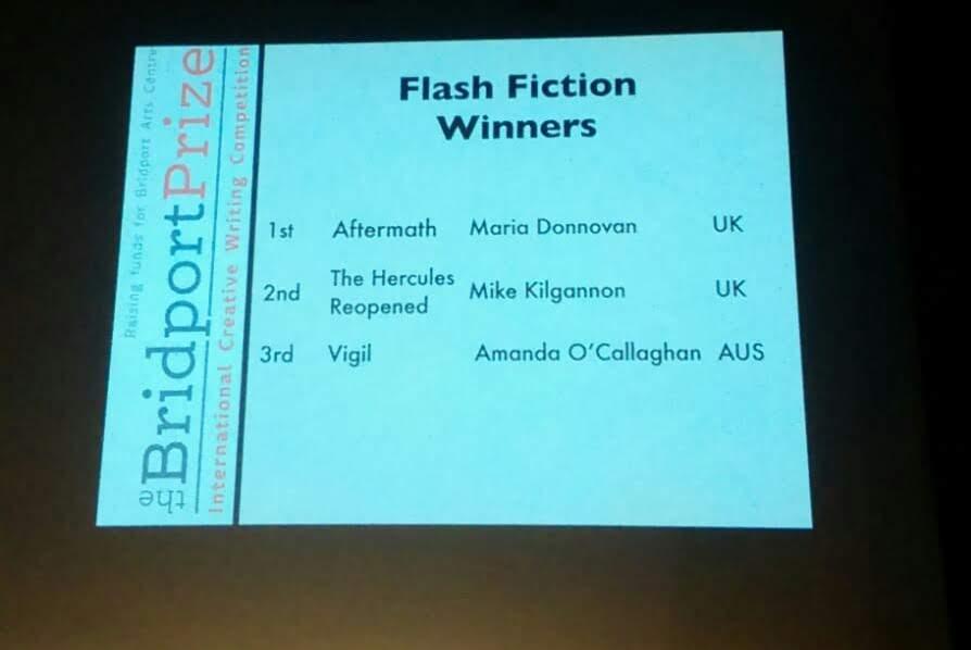 Winners slide Bridport Prize FF