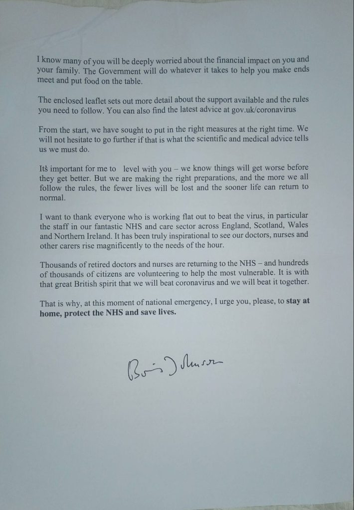 Boris letter back