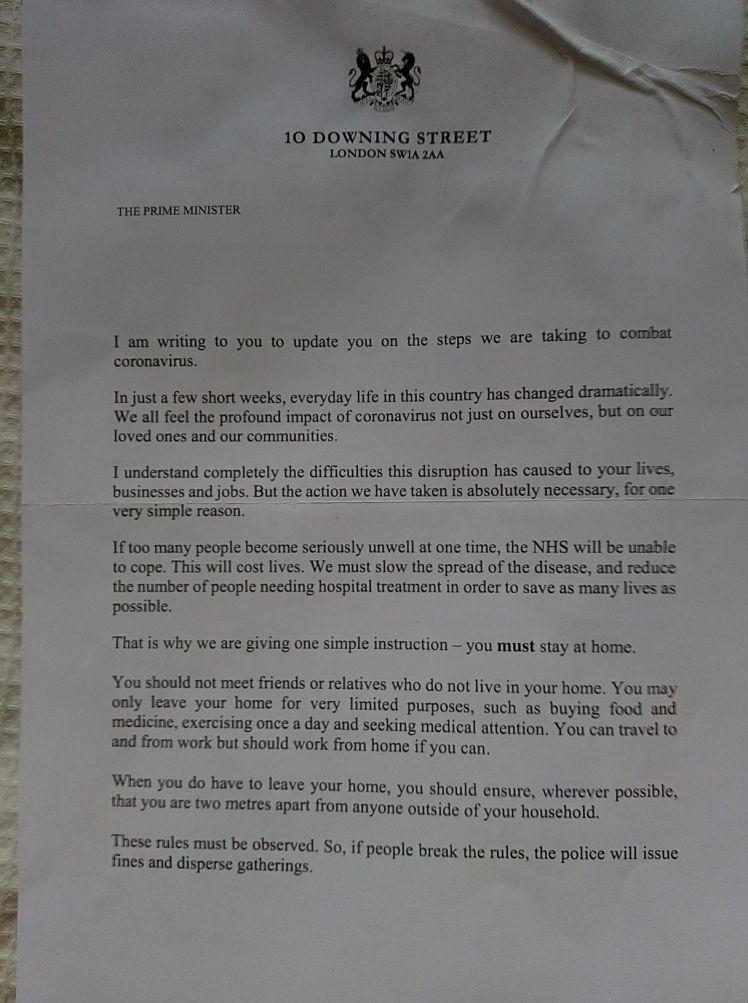 Boris letter front
