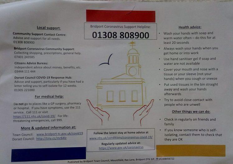 Bridport leaflet back